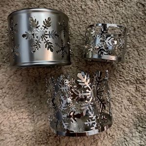 3 small candle holders
